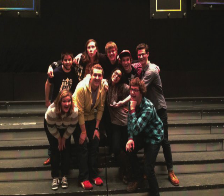 Southern Lehigh alumnus Luke Miller (top row, second from the right) is a part of Gordon College's improv group, the Sweaty-toothed Madmen.