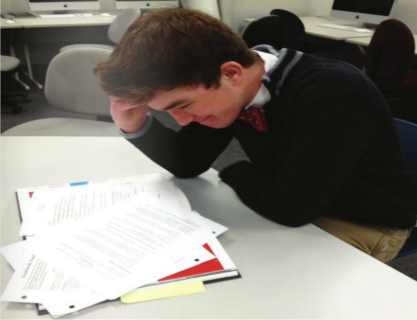 Students stress over studying for the SATs.