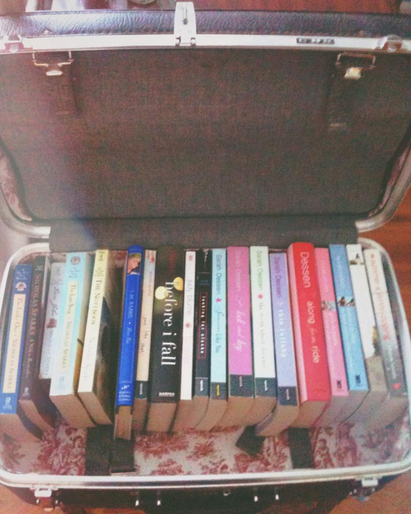 Heres an example of what you can do with your newly redecorated suitcase!