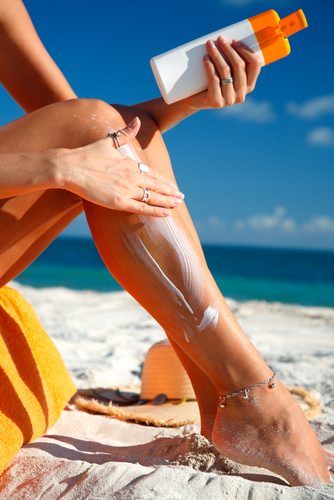 Use sunscreen in the summer to protect your skin from cancer and other dangers.