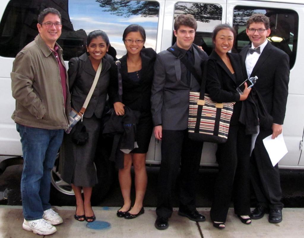 Fiona Bultonsheen, Lucy Zhang, Jake Stattel, Naomi Li, and David Kroll competed at the Yale tournament.  Their coach is Mr. David Long.