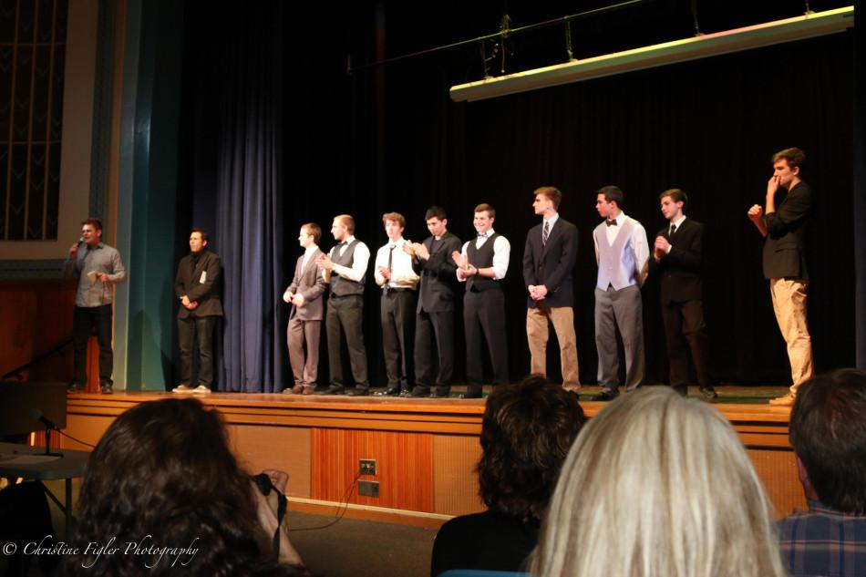 The 2014 Mr. Spartan contestants lined the stage.