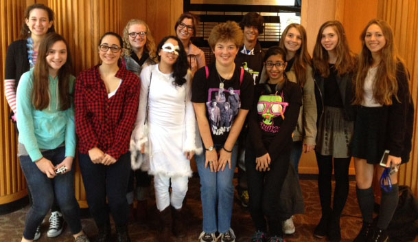 A small group of SLHS students attended the October 31 poetry festival at DeSales University, under the supervision of Mrs. Ciotti and Mrs. Howsare.
