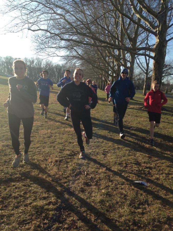 Running Track in a Winter Wonderland