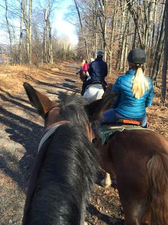 The Adventure Club takes various trips, including going horseback riding.
