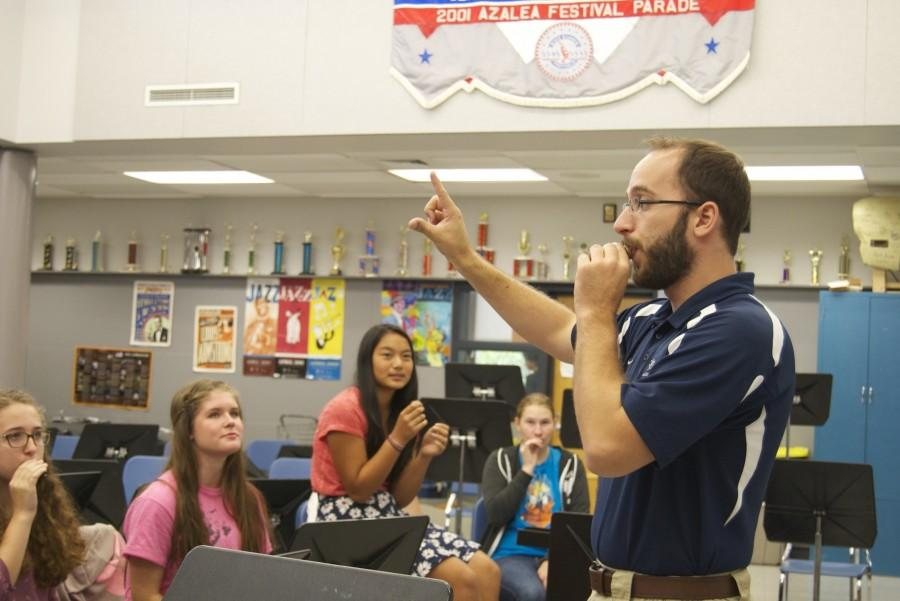 Mr. Larry Fisher is the new Southern Lehigh band and orchestra teacher.
