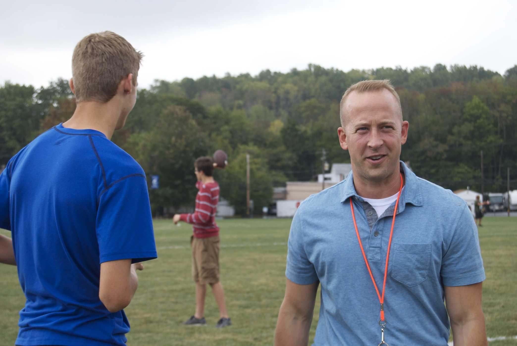 Mr. Matthew Hummel enjoys teaching physical education class.