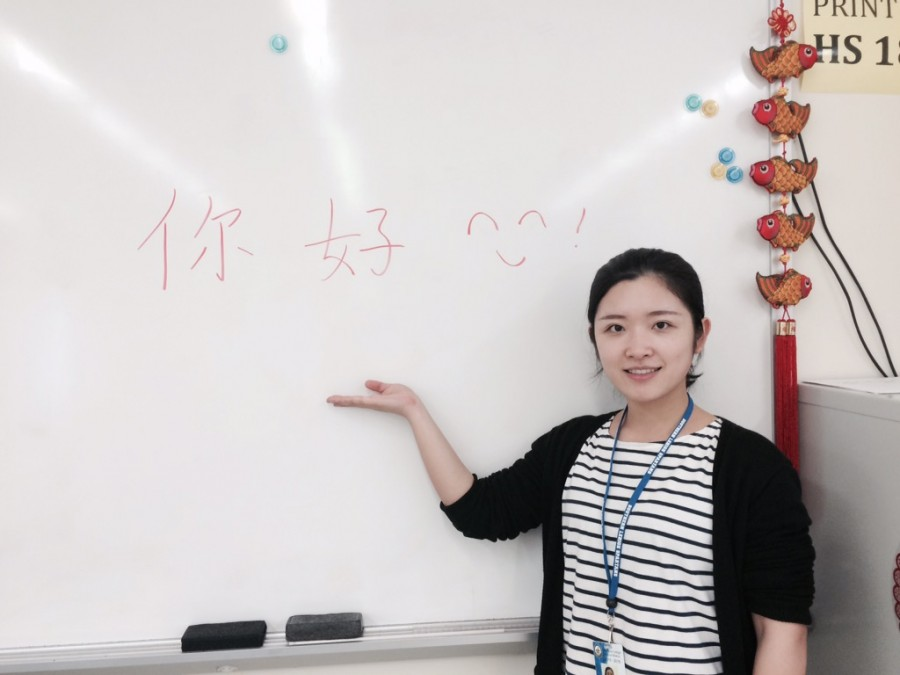 Southern Lehigh welcomes the new Chinese teacher, Ms. Yujing.