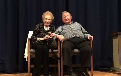 Esther Bauer came to speak to Southern Lehigh High School about surviving the Holocaust on October 15, 2015.