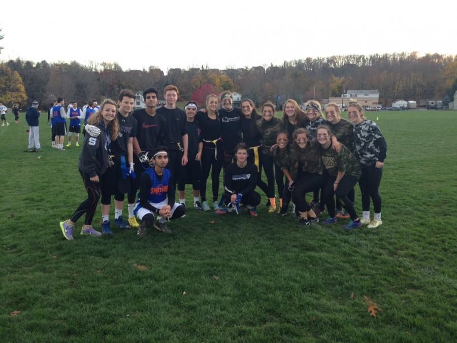 Players had fun on November 11th, playing flag football for Mini-THON.