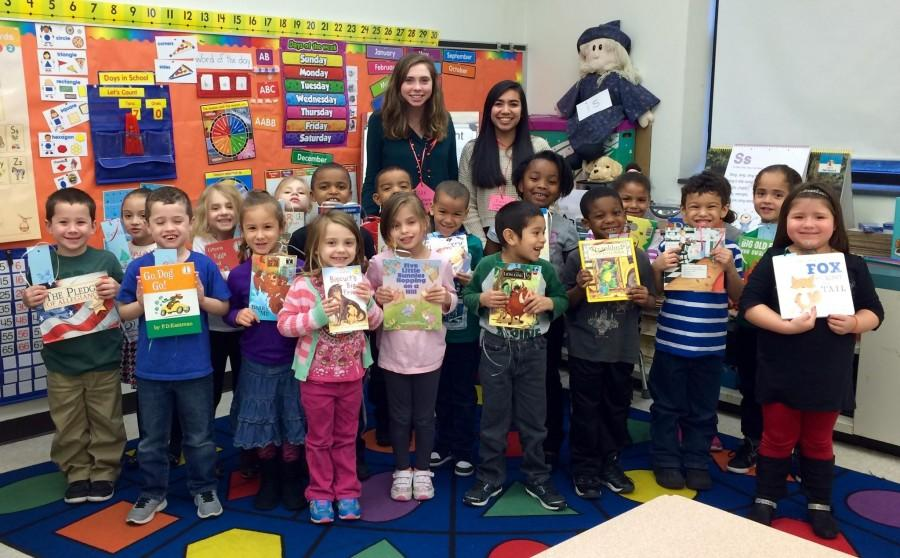 NHS members read books and interacted with the elementary schoolers throughout the day.