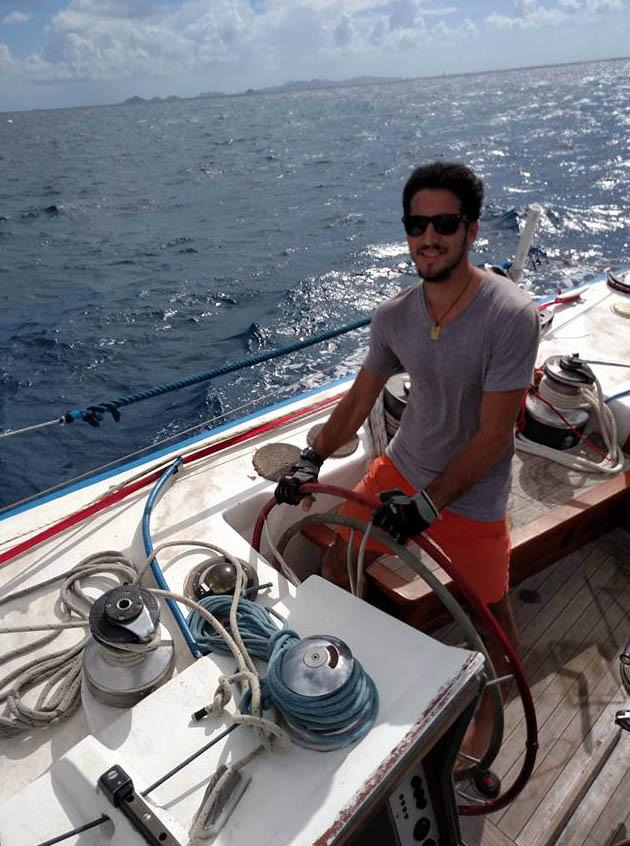 Mattiola on his first passage on his new boat from Jolly Harbour, Antigua to Great Bay, St. Maarten.