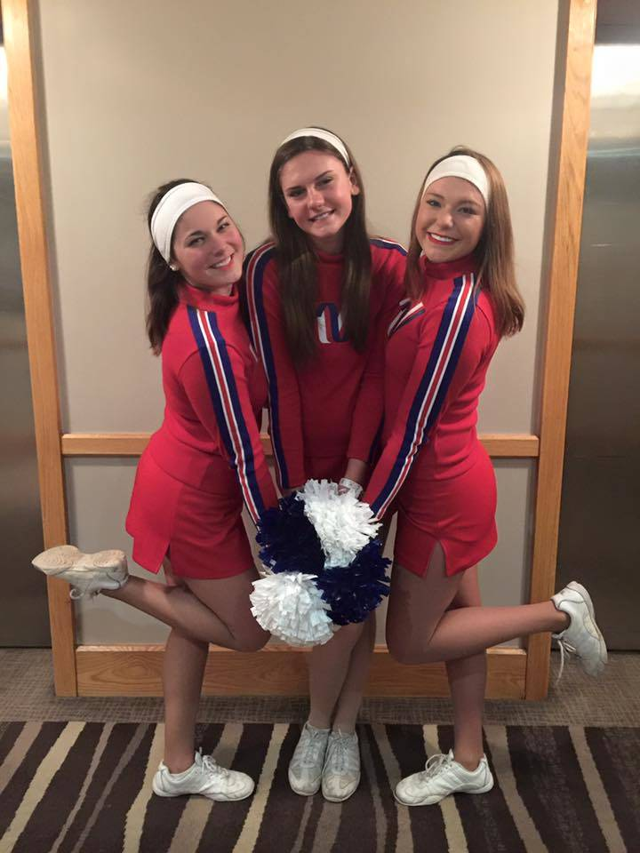 Jordan Munoz, Kaitlyn Torcivia, and Felicity Levy were chosen from Southern Lehigh to cheer for the All-American team in London.