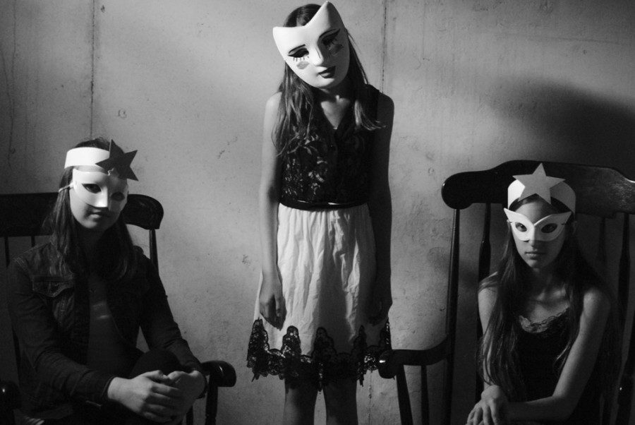 The inspiration for this photo is Diane Arbus, an artist who specializes in macabre photos.