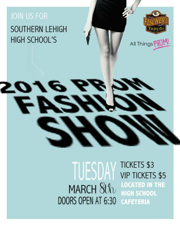Come to the Prom Fashion Show on March 8. Doors open at 6:30!
