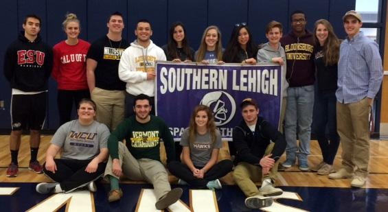 A handful of Southern Lehigh seniors will be continuing their athletic careers in college.