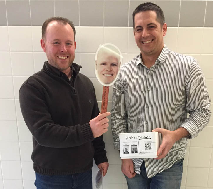 Mr. Greenawald and Mr. Ruch sold photoshopped pictures of Mr. Zeisloft hairless.
