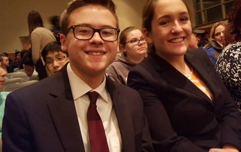 Juniors Brian Smith and Sarah Mackin participate in Speech and Debate.