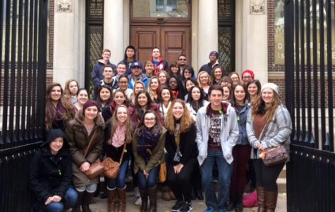 EHP students pose on the steps of the Mutter Museum.