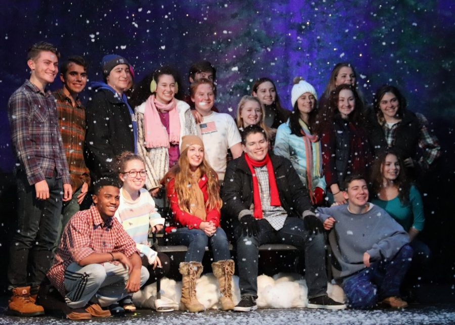 The cast bundled up to perform in the chilly setting of Maine.