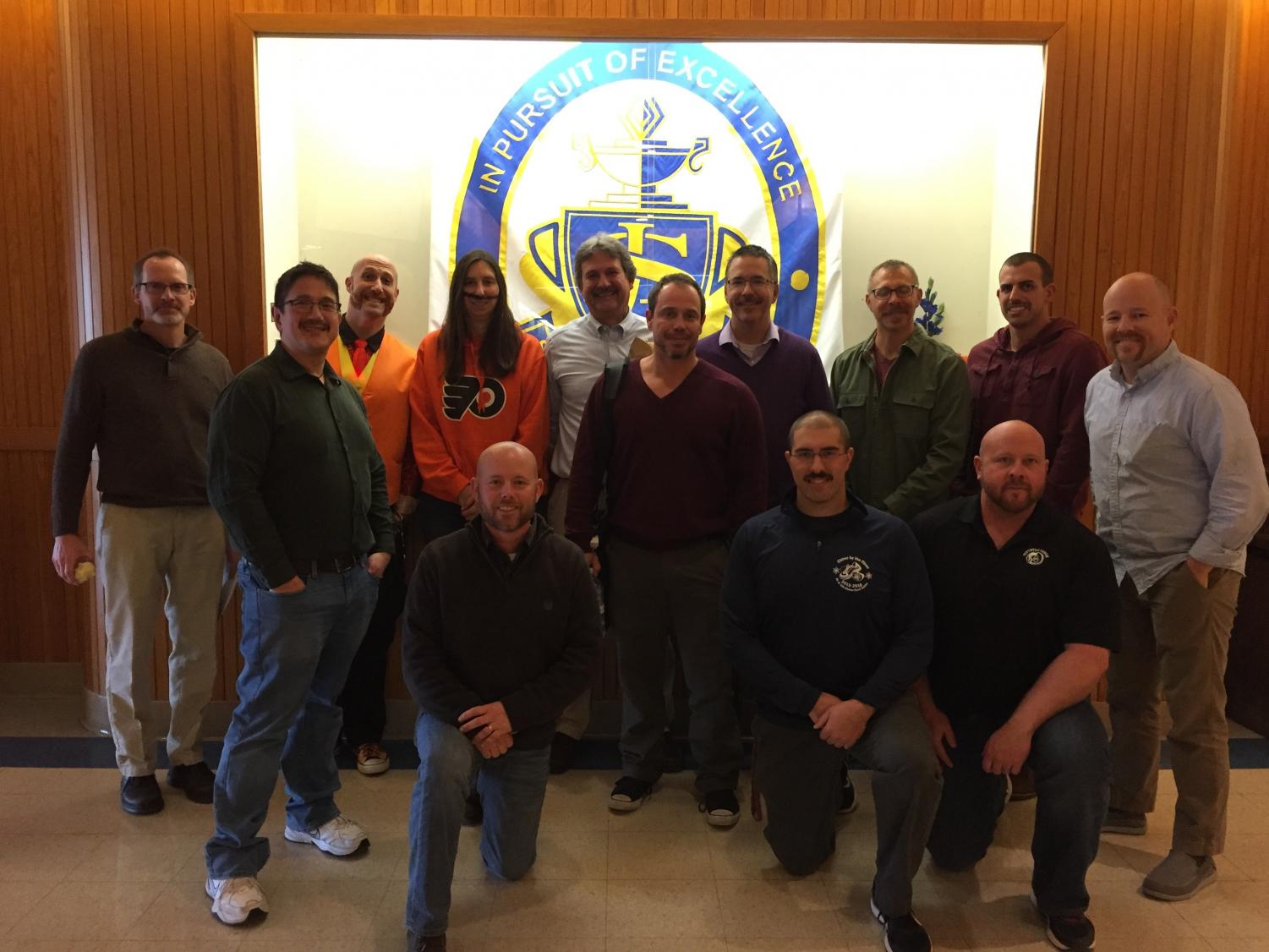 Southern Lehigh staff show off the best facial hair after weeks of
