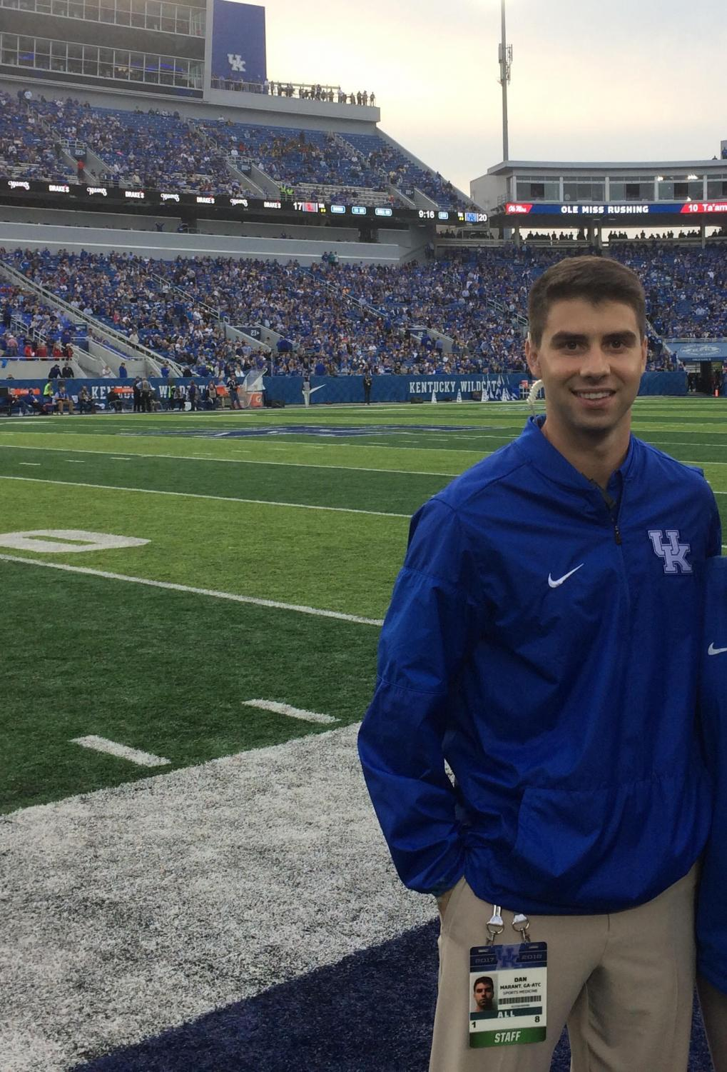 Marant is studying at University of Kentucky to get his Master's in Athletic Training.