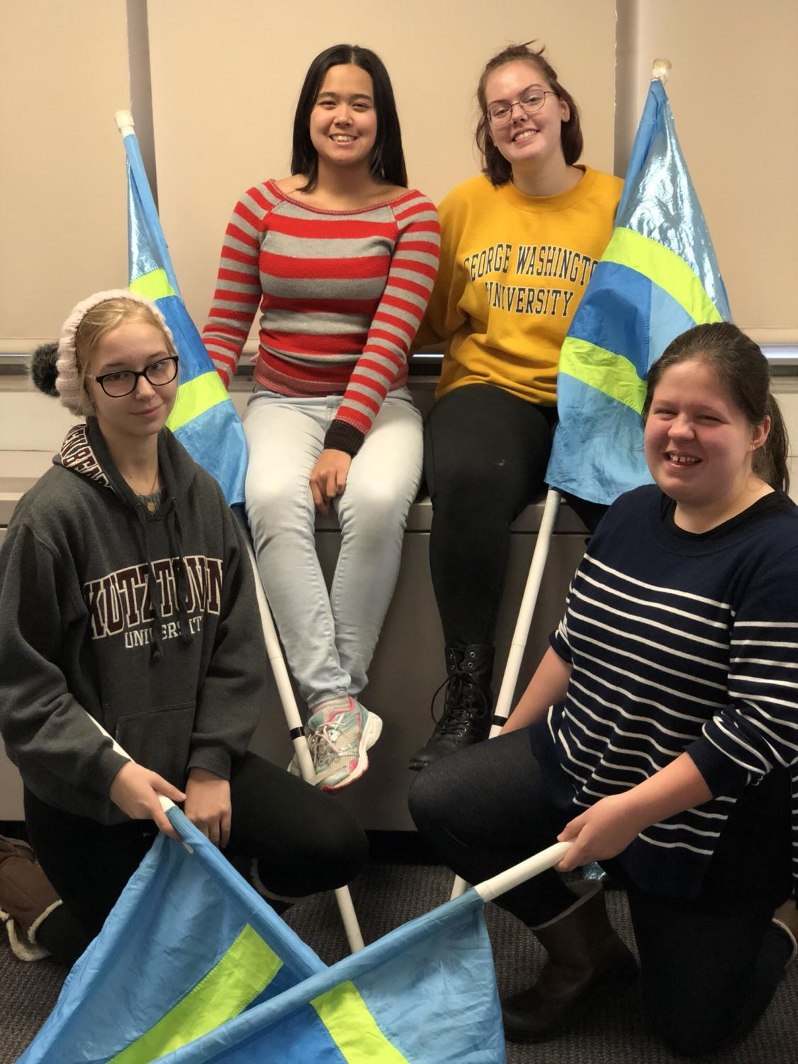 The four Southern Lehigh color guard members joined StarCross to further their skills and knowledge.