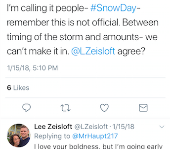 Teachers Take to Twitter to Make Bold Snow Day Predictions