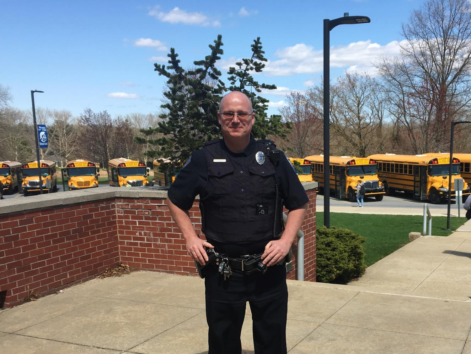 School Resource Officer Brian MacLaughlin is dedicated to the safety and security of the students and staff of Southern Lehigh High School.
