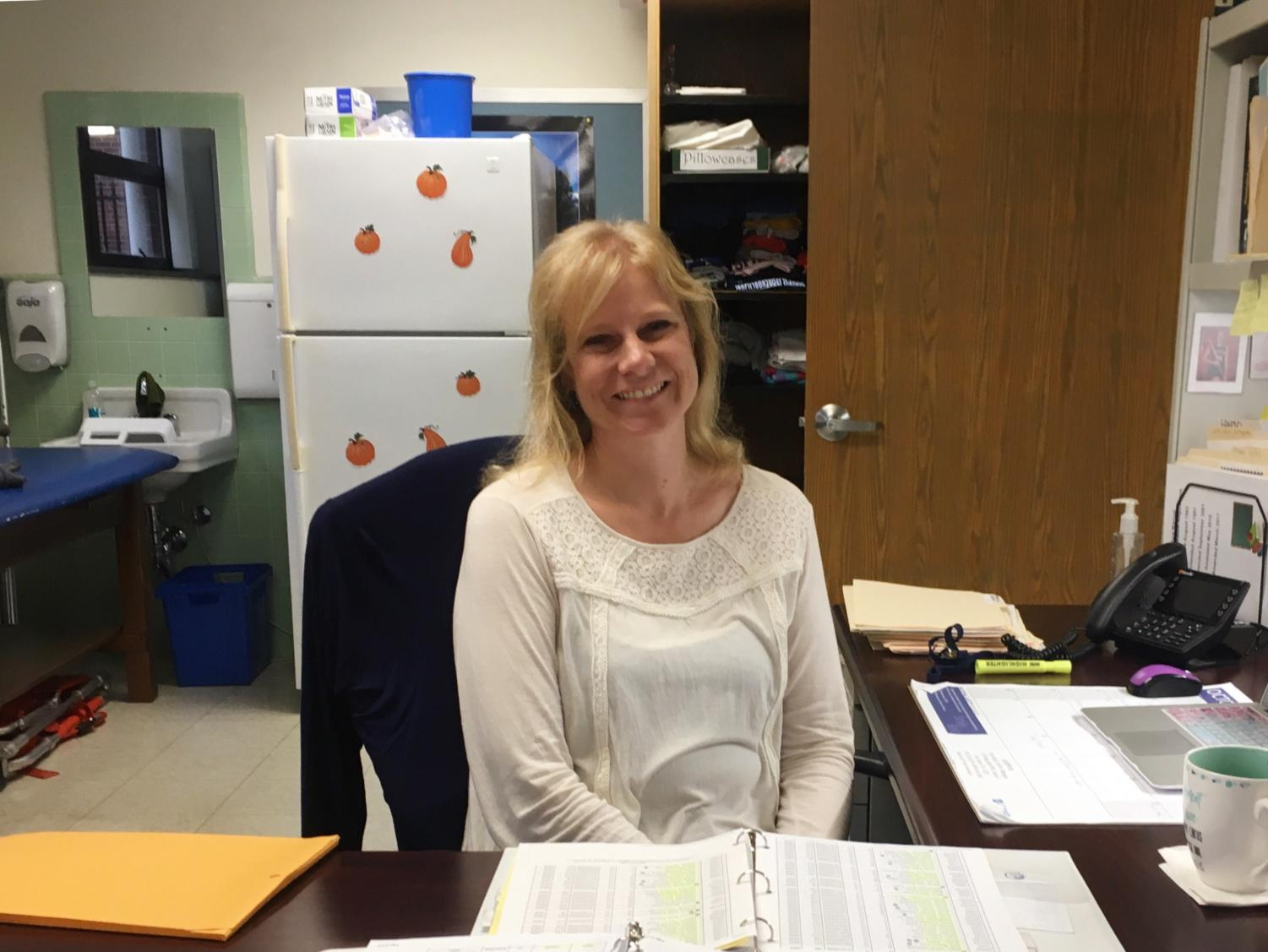 Mrs. Wieder looks forward to working with students.