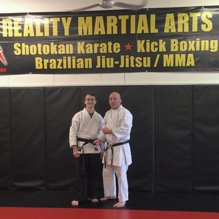 Senior+Kullen+Yurchak+was+awarded+a+black+belt+by+his+Shotokan+Karate+instructor.+