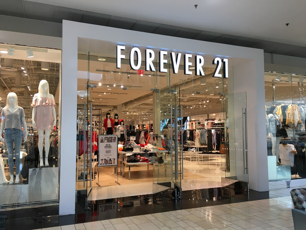 Forever 21 is one of the most popular fast fashion chains.