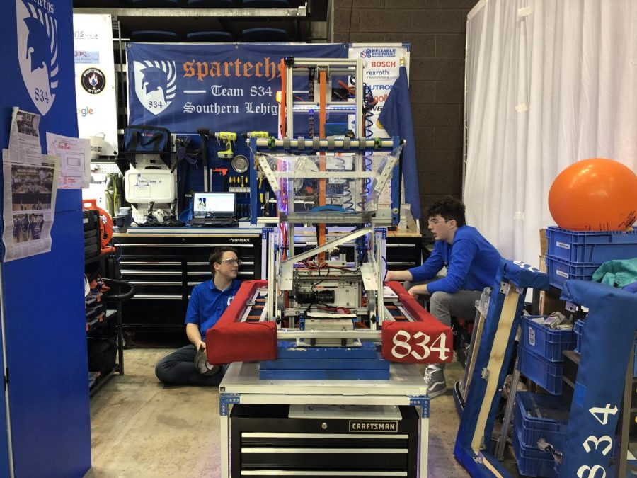 The spartan robotics team, known as the Spartechs, work together to produce robots that are able to overcome challenges.