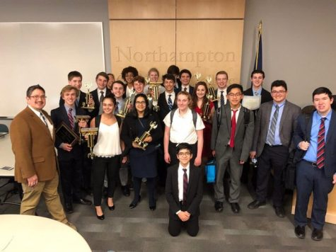 Speech and debate students after a tournament at Northampton Community College, where a dozen students qualified for Nationals.