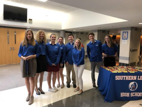A group of Spartan Ambassadors greeted state senators and local representatives at a recent visit.
