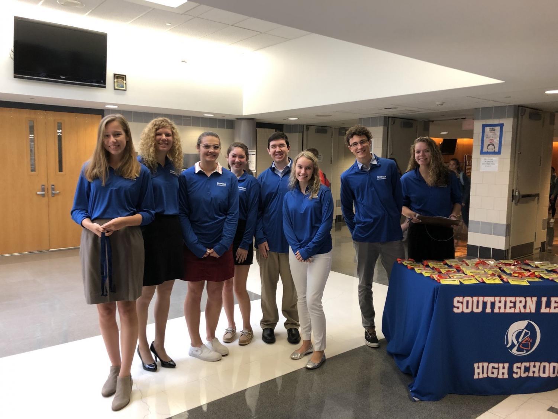 A group of Spartan Ambassadors greeted state senators and local representatives at a recent visit.