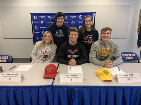 5 spartans rep their future college as they sign their national letters of intent.