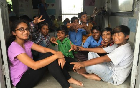 Asha loved spending time with the children and learning their dialect, Gujarti