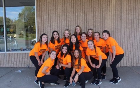 The dance team is all smiles after preforming in the Coopersburg Halloween Parade.