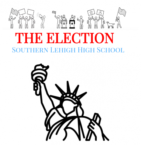 "Southern Lehigh poster advertising ""The Election"" 1962 political satire set within a high-stakes high school election."