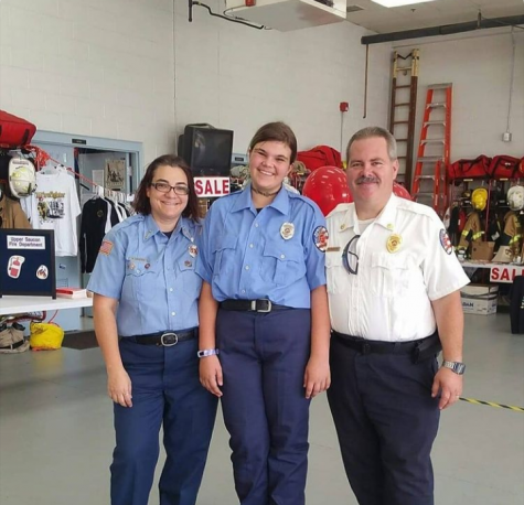Left to Right: Nicole Castetter, Jessica Castetter, and Chuck Castetter at the Upper Saucon Fire Department Open House